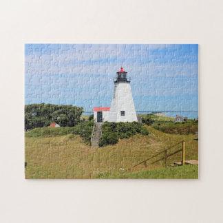 Plymouth Lighthouse, Massachusetts Jigsaw Puzzle