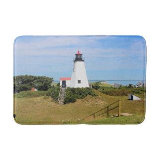 Plymouth Lighthouse, Massachusetts Large Bath Mat