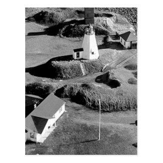 Plymouth Lighthouse Postcard