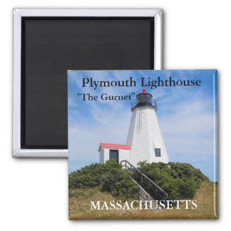 """Plymouth Lighthouse, """"The Gurnet"""", MA Magnet"""
