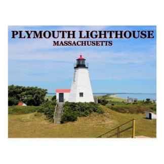 "Plymouth Lighthouse, ""The Gurnet"", MA Postcard"