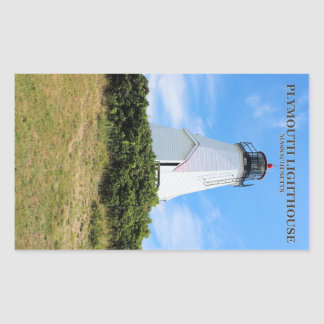 """Plymouth Lighthouse, """"The Gurnet"""", MA Stickers"""