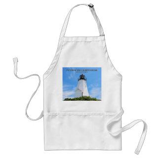 "Plymouth Lighthouse, ""the Gurnet"" Massachusetts Adult Apron"