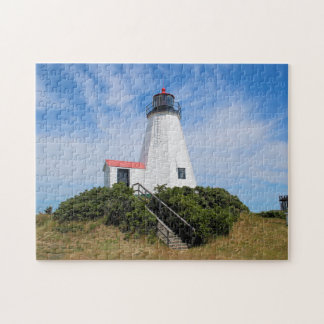 "Plymouth Lighthouse, ""the Gurnet"" Massachusetts Jigsaw Puzzle"