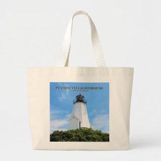 "Plymouth Lighthouse, ""the Gurnet"" Massachusetts Large Tote Bag"