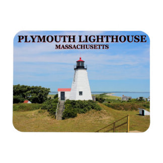"""Plymouth Lighthouse, """"the Gurnet"""" Massachusetts Magnet"""