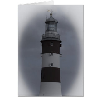 Plymouth lighthouse UK Card
