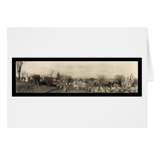 Plymouth MA Burial Hill Photo 1910 Greeting Card