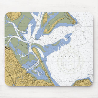 Plymouth MA Nautical Harbor Chart Mousepad