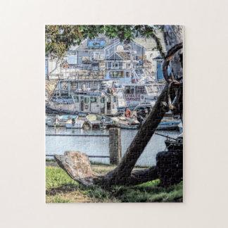 Plymouth, MA Town Wharf Jigsaw Puzzle