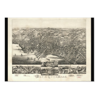Plymouth Massachusetts (1882) 5x7 Paper Invitation Card