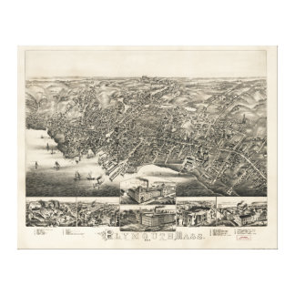 Plymouth Massachusetts (1882) Stretched Canvas Print