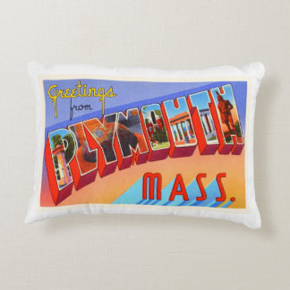 Plymouth Massachusetts MA Vintage Travel Souvenir Accent Pillow