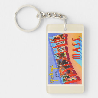 Plymouth Massachusetts MA Vintage Travel Souvenir Keychain