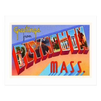 Plymouth Massachusetts MA Vintage Travel Souvenir Postcard