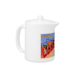 Plymouth Massachusetts MA Vintage Travel Souvenir Teapot