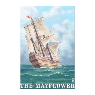 Plymouth, MassachusettsView del Mayflower Impresion De Lienzo