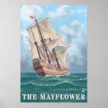Plymouth, MassachusettsView del Mayflower Póster