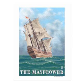 Plymouth, MassachusettsView of the Mayflower Postcard