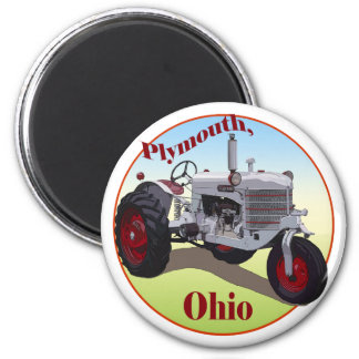 Plymouth, Ohio 2 Inch Round Magnet