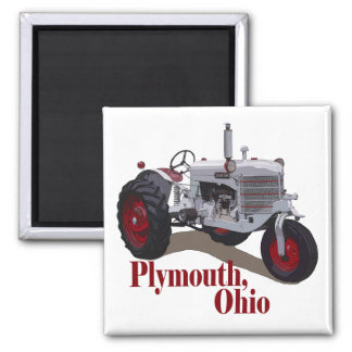Plymouth, Ohio 2 Inch Square Magnet