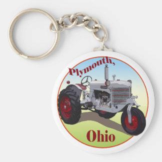 Plymouth, Ohio Llavero Redondo Tipo Pin