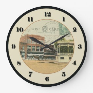 Plymouth Ohio Post Card Clock - 1913