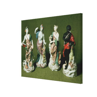 Plymouth porcelain figures of the Four Continents Canvas Print