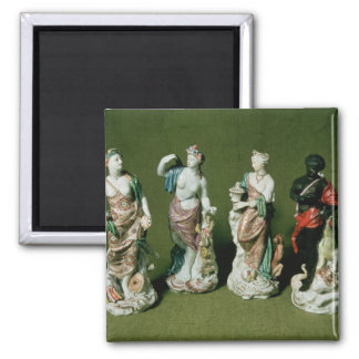 Plymouth porcelain figures of the Four Continents Magnet