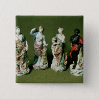 Plymouth porcelain figures of the Four Continents Pinback Button