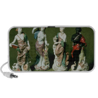 Plymouth porcelain figures of the Four Continents Portable Speaker