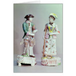 Plymouth porcelain shepherd and shepherdess cards