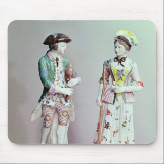 Plymouth porcelain shepherd and shepherdess mouse pad