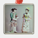 Plymouth porcelain shepherd and shepherdess christmas ornaments