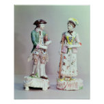 Plymouth porcelain shepherd and shepherdess print