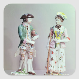 Plymouth porcelain shepherd and shepherdess stickers