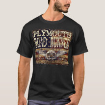 Plymouth Road Runner Against Eroded Flag - Skull T-Shirt