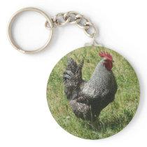 Plymouth Rock Chicken Keychain