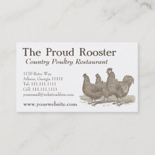 Poultry farmer business cards zazzle plymouth rock chickens rooster business card colourmoves