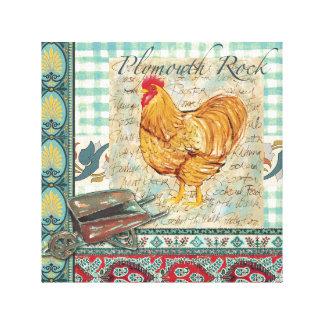 Plymouth Rock envolvió la lona Impresiones En Lona