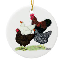 Plymouth Rock Quartet Ceramic Ornament