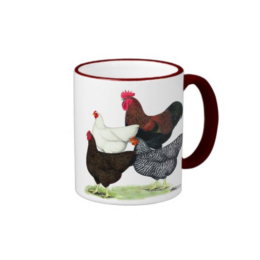 Plymouth Rock Quartet Ringer Coffee Mug