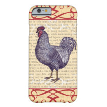 Plymouth Rock Rooster Vintage Poultry Farm Barely There iPhone 6 Case