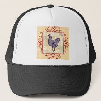 Plymouth Rock Rooster Vintage Poultry Farm Trucker Hat