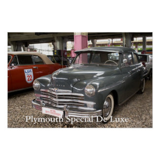 Plymouth Special De Luxe. Built in 1949 Poster