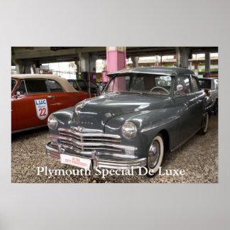 Plymouth Special De Luxe. Construido en 1949 Póster