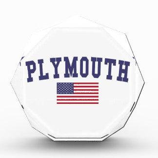 Plymouth US Flag Acrylic Award