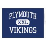 Plymouth - Vikings - High - Plymouth Greeting Card