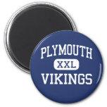 Plymouth - Vikings - High - Plymouth Fridge Magnets
