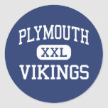 Plymouth - Vikings - High - Plymouth Classic Round Sticker